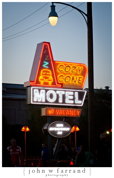 Cozy Cone Motel Sign - Cars Land