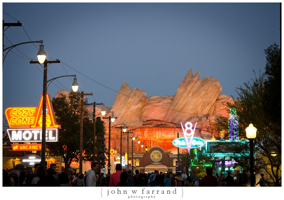 Cars Land at Dusk