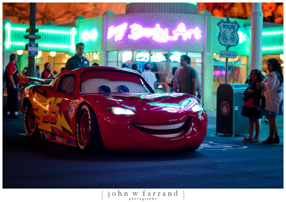 Lightning McQueen at Night - Cars Land