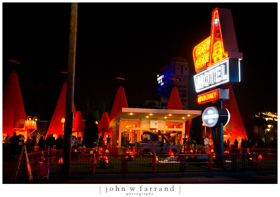 Cozy Cone Motel at Night - Cars Land