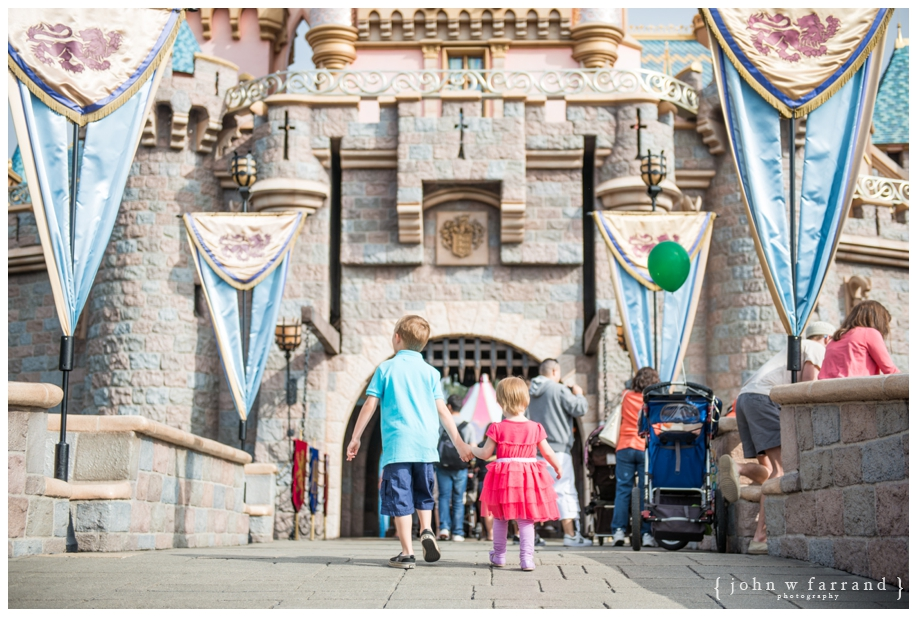 Sleeping Beauty Castle - Brother and Sister entering the Castle.