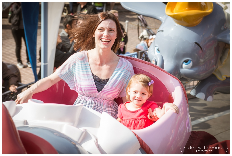 Dumbo the Flying Elephant - Disneyland Family Photography