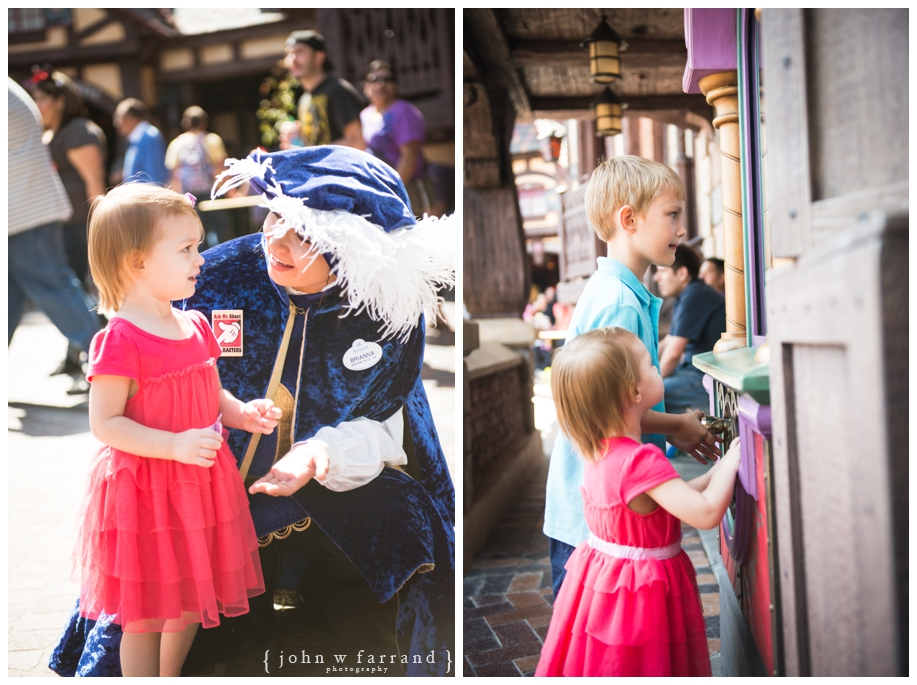 Disneyland Family Photographer - Exploring Fantasy Faire.