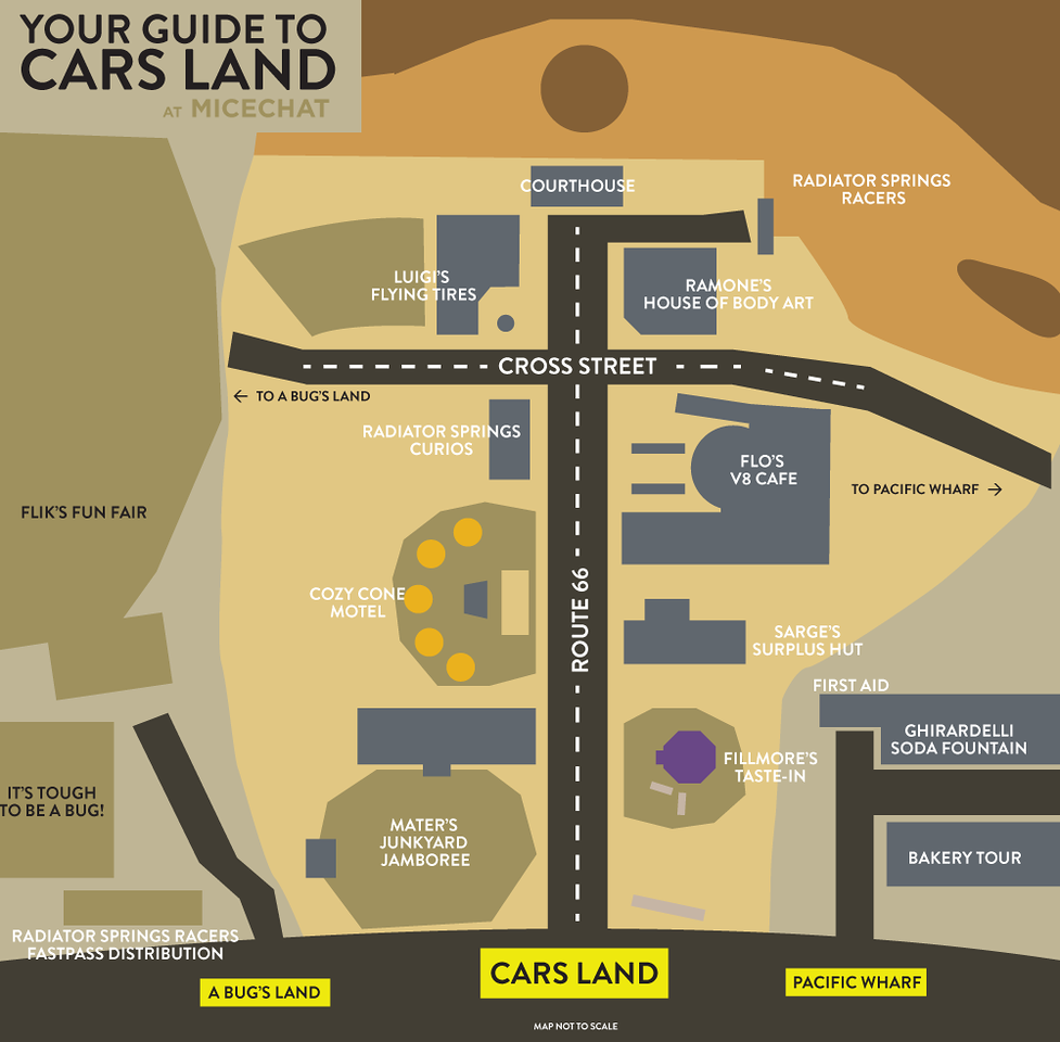 Cars Land Map